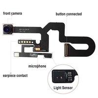lens esnek kablo toptan satış-Yüksek kaliteli iphone 5 5C 5 S 6G 6 S artı 7 7 artı 8 artı X ön kamera kafası Lens ile flex kablo