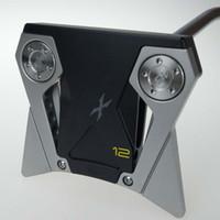 putter de golfe versa venda por atacado-Novos clubes de golfe prata preto X12 eixo de aço putter 32 33 34 35 36 polegadas comprimento do eixo com tampa da haste frete grátis