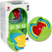 детские игры в лабиринте оптовых-Мудрость Мяч 3D Интеллект Магаик Игры с Головоломкой Головоломки Мяч Развивающие Игрушки для Детей IQ Обучающие блоки игрушки умный лабиринт DIY подарок детские игрушки