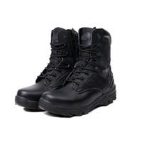 наружные высокие походные туфли оптовых- Outdoor Sport Army Men Boots Desert Botas Hiking Autumn Shoes Travel Leather High Boots Male