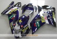 motocicletas gsxr plásticos venda por atacado-Novos kits de carenagens de moto de plástico ABS para Suzuki GSXR 600 750 04 05 Carenagem GSX-R600 R750 2004 2005 personalizado azul escuro Livre pára-brisas
