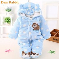 Wholesale unisex clothing for newborn baby for sale - Group buy baby Plus velvet thicker coat winter clothing bodysuit newborn warm romper Snow Wear jumpsuits for girl cotton warm clothes