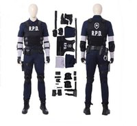 ingrosso cosplay male residente-Nuovo arrivo Resident Evil 2 Costume Cosplay Donne Leon Cosplay Costume Costumi di Halloween Per uomini Gioco Suit Custom Made