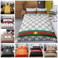3d bedding set оптовых-Thumbedding мода дизайн комплект постельных принадлежностей размер Король 3D пододеяльник установить две полный Королева одноместный двухместный современный стиль кровать комплект с наволочка