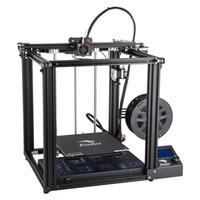 fontes de alimentação da impressora venda por atacado-Impressora 3D, Creality 3D Ender 5 Impressora 3D com Função de Impressão de Currículo e Fonte de Alimentação de Marca