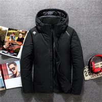 Wholesale korean red clothes resale online - Men s brand clothing new men s outdoor fashion Korean version of the self cultivation hooded sports short down jacket men