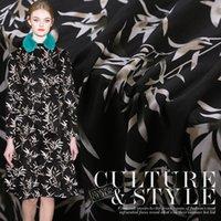 vestidos de giros al por mayor-30 mm impreso tejido de seda de hilado130 cm vestido de bata vestido de tela de seda vestido pesado material de tela tela al por mayor