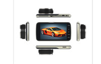 """câmera digital lcd tela de exibição venda por atacado-X4 Car DVR 4 """"HD 1080p visão noturna dianteira e traseira câmera escondida traço CAM dual-gravação revertendo"""