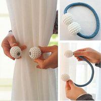perles noires bleues achat en gros de-Perle Magnétique Rideau Clip Porte-Rideaux Attache-Boucle Clips De Suspension Boule De Suspension Boucle Attache-Rideau Accessoires Décor À La Maison