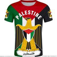 hacer camisetas personalizadas gratis al por mayor-PALESTINA camiseta DIY hecho a medida número nombre palaestina libre de la camiseta de la bandera nacional PLE Tate universidad palestina prendas con el logotipo de impresión