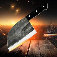 Wholesale butcher knifes resale online - Chef Knife Full Tang Sharp High Carbon Steel Slaughter Meat Cleaver Slice Butcher Chopping Vegetables Knife Handmade Forged Kitchen Knives