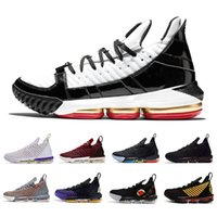 ingrosso pacchetti aperti-2019 Lebron 16 Equality Away Home pack James Fresh Bred SuperBron uomo Scarpe Remix lebrons 16s Black Gold mens scarpe da ginnastica sportive Sneakers