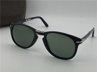 Wholesale folding sunglasses resale online - Fashion designer sunglasses classic retro pilot folding frame glass lens UV400 protection eyewear with leather case