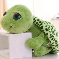 Wholesale toy sea turtles resale online - Cartoon Big Eyes Tortoise Plush Toys For Baby Strollers For Doll Stuffed Plush Toys Soft Small Sea Turtles Popular Toy