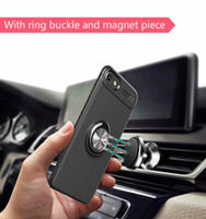 coche v9 al por mayor-Para Huawei Honor 7 8X Max 9 10 Lite Shell Invisible Stand Honor V9 10 View 20 Anillo magnético Honor Play Car Cover