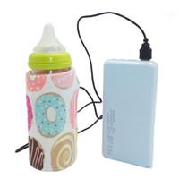 bebek su ısıtıcısı toptan satış-6 Renkler Seyahat Arabası USB Süt Su Isıtıcı Yalıtımlı Çanta Bebek Hemşirelik Şişe Isıtıcı 28.0 cm * 13 cm