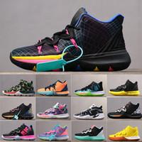 tornozelo calçados esportivos para homens venda por atacado-Mens ki 5 esportes tênis de basquete para homens zoom esporte treinamento tênis alto tornozelo 40-45