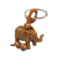 Wholesale new lucky keychain for sale - Group buy New Classic Lucky Men Women s Elephant Carving Pendant Keychain Key Ring Chain Gift