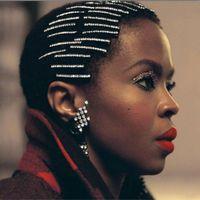 kızlar saç aksesuarları toptan satış-StoneFans Saç Kristal Rhinestone Barrette Toka Cheveux Mariage Küçük Moda Kadınlar Saç Klip Kristal Kız Aksesuarla