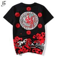 бейсбольная футболка печать оптовых-Летняя мода мужчины футболка Lucky Ghost маленький дьявол печати хлопок хип-хоп Бейсбол Джерси футболка мужчины размер M-4XL Мужские футболки