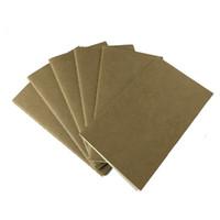 mini kağıt belgesi toptan satış-Kağıt dizüstü boş not defteri kitap vintage yumuşak defterini günlük notlar Kraft kapak dergi notebooklar not defteri toptan