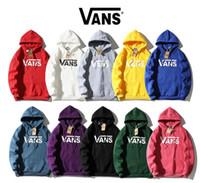 avrupa ceketleri baskılı toptan satış-Yeni Avrupa ve Amerikan tasarımcı yıldız moda VAN ceket klasik harfler logo baskılı Peluş hip-hop Hoodie guard
