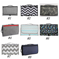 Wholesale diaper strollers resale online - 2020 Infant Nappy Changing Mat Multifunction Baby Diaper Changing Pads Mats Foldable Travel Changing Station Stroller Storage Bags ZZA1901