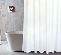 tela para cortinas de baño al por mayor-cortina de ducha con ganchos cortina impermeable para baño decoración tela de poliéster cortinas de baño baño cortina de PEVA LJJK1794