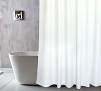 tissu pour rideaux de douche achat en gros de-rideau de douche avec crochets rideau imperméable pour la décoration de salle de bain tissu polyester Bath Curtains Bathroom PEVA Curtain LJJK1794