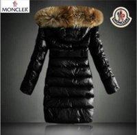 sıcak kadın parkaları toptan satış-Kürk yaka Tüy Elbise Ceket Kadın Açık Aşağı Coat Kadın Moda Ceket Parkas ile 2020 sıcak Marka Kadınlar Kış Sıcak Aşağı Ceket