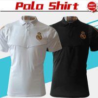 ingrosso sport degli uomini bianco-2019 Polo Real madrid White Soccer Maglie 19/20 Uomo Abbigliamento sportivo Nero Football Uniformi Sport Shirts On Sale SIze S-XL