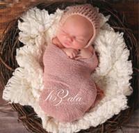toallas de bebé recién nacido al por mayor-Toalla fotográfica para bebés recién nacidos 40 * 150 cm Envoltura de hilo elástico Nueva bufanda euroamericana para estudio de proyectos de fotografía para niños