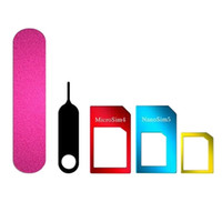 Wholesale 5 In Kit Tool Cutting SIM Card Adapter Tray Standard Nano Card Phone Accessory Sanding Aluminum Alloy Micro Pin Converter