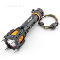 lâmpadas ultrafireiras venda por atacado-Militar T6 LED recarregável lanterna para proteção contra lobos caça patrulha de segurança ao ar livre acampamento defensivo ao ar livre tático