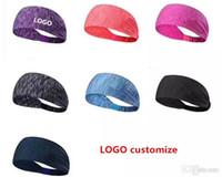 logotipo de academia unisex venda por atacado-Unisex Headband - Logotipo Personalizado Esporte Headband Yoga Headband Secagem Rápida Elastic Headbands Malhando Faixas de Cabelo de Ginástica para Esportes de Fitness 2019