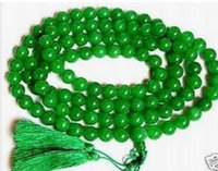 Wholesale buddhist jade for sale - Green Bead Tibet Buddhist Prayer Necklace mm