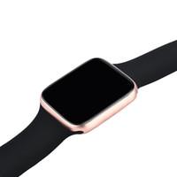 ücretler masrafları toptan satış-Manyetik Adsorpsiyon Kablosuz Şarj Goophone İzle 4 Akıllı İzle 44mm Bluetooth 4.0 MTK2502C Giyilebilir Smartwatch iphone XS MAX XR S10 +