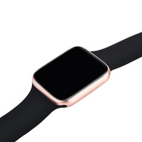 Wholesale golden smart watches for sale - Group buy Wireless Charging Goophone Watch GPS Wearable Smart Watch mm Heart Rate Blood Pressure Bluetooth MTK2503AVE for iPhone Pro Max