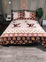 juegos de cama edredón rey al por mayor-Textiles para el hogar ropa de cama explosiva engrosamiento lijado calidad homenaje algodón diseñador juegos de cama funda de edredón 4 piezas traje reina cama edredón