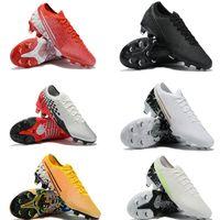 fg tech al por mayor-De NEYMAR FREAK niños-jóvenes hombres Mercurial XIII Elite FG Botas de fútbol CHROME BLK NJR Venom Phantom Tiempo zapatos de fútbol Zapatos Tech Craft