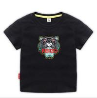 adrette kleidung für mädchen groihandel-Kinder Designer Kleidung Mädchen Jungen Mode Druck Baumwolle Kleidung Designer Herren Designer T-Shirt Atmungsaktive Modemarke Luxus 2-8 T