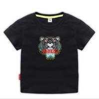 moda baskılı tişörtler kızlar toptan satış-Çocuklar Giysi Tasarımcısı Kız Erkek Bebek Moda Baskı Pamuklu Giysi Tasarımcısı Erkek Tasarımcı T-Shirt Nefes Moda Marka Lüks 2-8 T