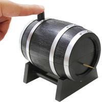 dispensador automático de palillos al por mayor-Plástico Toothpicks Holder Toothpick Dispenser French Oak Wine Barrel Shape Toothpick Holder Venta caliente Caja automática
