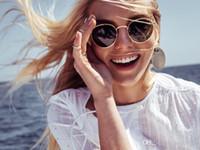 tons redondos para homens venda por atacado-Moda Clássico Do Vintage Rodada Óculos De Sol Das Mulheres Dos Homens Da Marca Designer de Metal Frame UV400 Condução Tons de Sol Tartaruga Óculos com o caso
