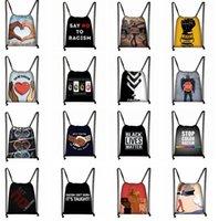 Wholesale drawstring bag backpack resale online - I Can t Breathe bag George Floyd Bag Drawstring Backpack String Bags Cinch Sacks Daypack for Traveling Sport Gym Storage backpack LJJK2183