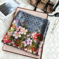 Wholesale scarves for sale - Group buy 2020 Luxury flower letter women silk scarf designer classic style beach shawl headwrap silk scarves exquisite woman accessories silk scarf