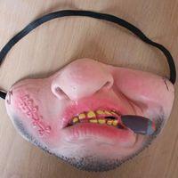 media máscara de látex al por mayor-Boca Diente Máscara Divertida Látex Media Cara Cómoda Fiesta de Bola Fiesta de Broma Decoración Prop Venta Caliente 4 3cjD1