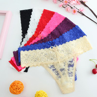 Wholesale teenage bikini girls for sale - Group buy DHL free ship teenage girls Sexy Lace Panties thong ultra thin Low Waist Briefs Underwear G Strings Tangas female small size Intimates
