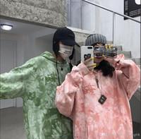 laço verde da camisa dos homens venda por atacado-vento porto início do Outono retro laço velho tingido dos homens camisola maré verde seção fina solta casal jaqueta com capuz camisa de mangas compridas