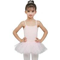 ingrosso abiti di giacca di balletto-Kid Girl Ginnastica Body per ragazza Ballerina Tutu Dress per performance Skirt Ballet Abbigliamento Dance Wear con gonne in chiffon